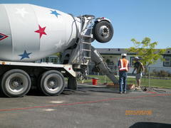 pouring 7 yards of concrete